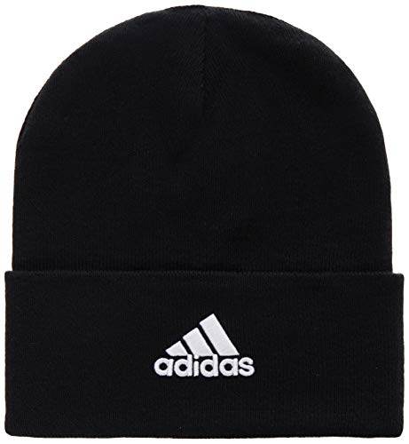 adidas Herren Mütze Logo Woolie Mütze, Black/Black/White, OSFM, FS9022