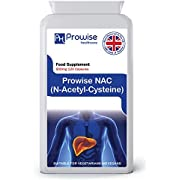 NAC N-Acetyl- Cysteine 600mg 120 Capsules - UK Manufactured   GMP Standards by Prowise Healthcare   Suitable for Vegetarians and Vegans