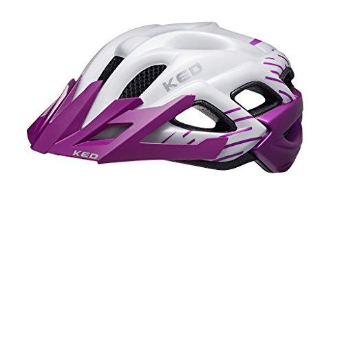 KED Stato Junior 2016 Bambino e dell'adolescente Casco della Bicicletta, Taglia:52-58 cm, Colore:Violet Pearl