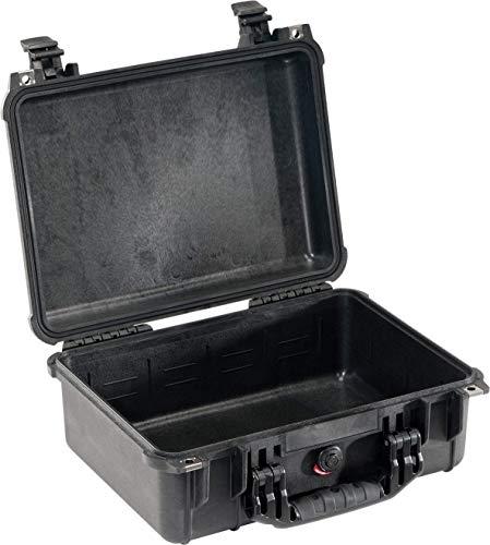 PELI 1450 valise de protection pour équipement vidéo et caméra, étanche IP67, capacité 15L, fabriquée en Allemagne, sans mousse, couleur: noire