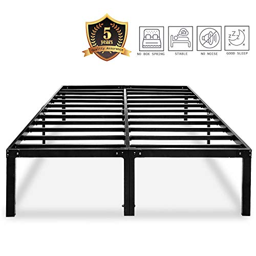 Metal Platform Bed Frame Queen Size Heavy Duty 14 Inch Beds No Box Spring Steel...