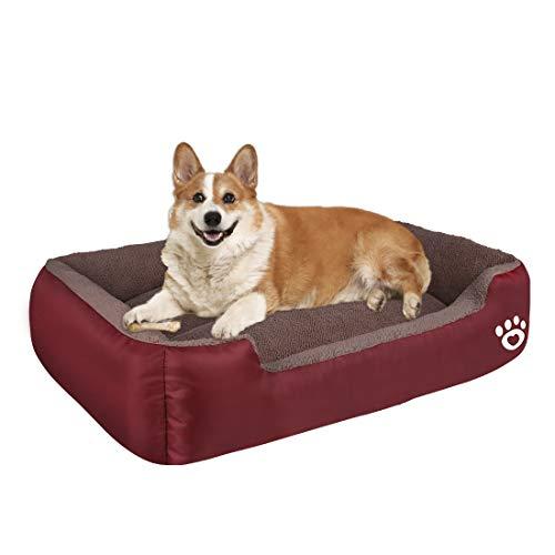 HEGCOIIE Hundebett für Kleine und Mittlere Hunde, Waschbar Hundekorb,Weich Hundesofa mit Plüsch,Haustierbett Hundekissen Katzenbett Hundekörbchen zu 35 lbs