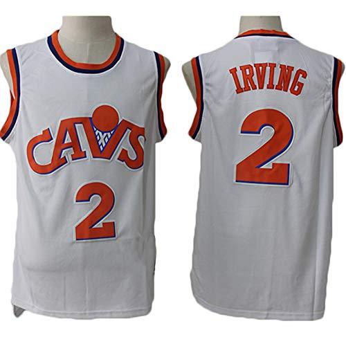 TGSCX Jersey Men's NBA Cavaliers 2# Irving Baloncesto Entrenamiento Ropa Deportes y Ocio Secado rápido Vestido sin Mangas Transpirable,D,S