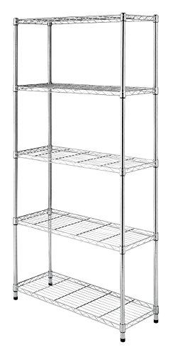 Whitmor Supreme Leveling Feet 350 Capacity Per Shelf Adjustable Shelves 5 Tier Feet-Chrome-350 lb, 5-TIER, Chrome