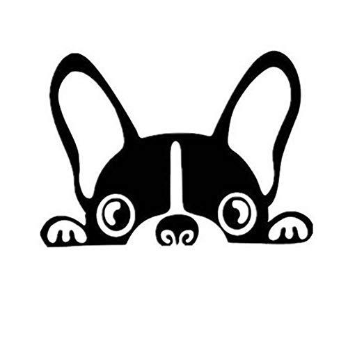 weichuang Tragbarer Treteimer abnehmbare Deckel Ist 2Pcs / Lot Hundeautoaufkleber Haustier Boston Terrier Kleber-Aufkleber PVC-Ganzkörper-Auto Hanging Abfalleimer Klapp (Color Name : Black, Size : M)