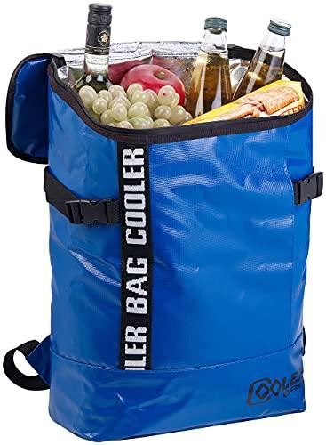 Xcase Kühltasche: LKW-Planen-Kühlrucksack, abwaschbar, wasserabweisend, 16 l (Kühltasche Rucksack)
