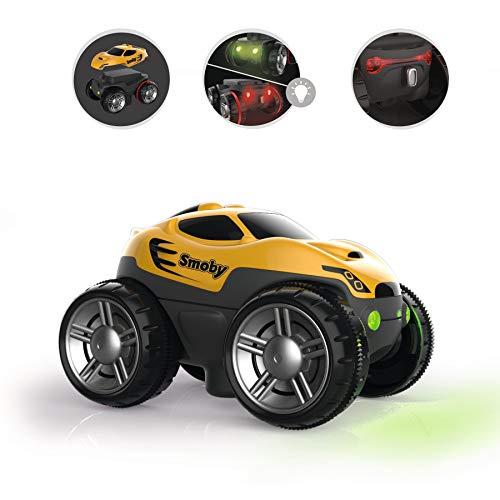Smoby – Flextreme Rennauto gelb– zusätzliches Auto für Flextreme Starter-Set, Rennbahn für Autos, für Kinder ab 4 Jahren, flexible Strecke mit Looping