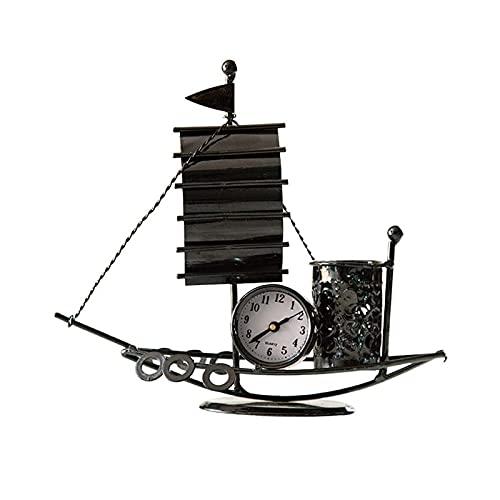 Uchwyt na pióro Kreatywny Kujący Żeglarstwo Żeglarstwo Uchwyt Home Żeglarstwo Dekoracji Salon Dekulator Pen Schowek Office Office pennhållare WSYGHP (Color : Black)