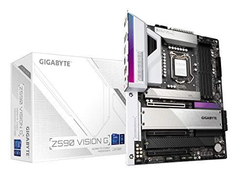 GIGABYTE Z590 Vision G (LGA 1200/Intel Z590/ATX/3x M.2/PCIe 4.0/USB 3.2 Gen2X2 Type-C/2.5GbE LAN/Motherboard)