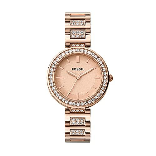 Fossil Analog Rose Gold Dial Women's Watch - BQ3181