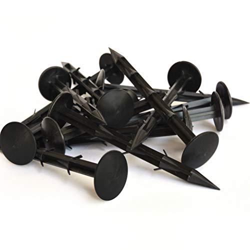 Hinrichs Erdnägel - 100 Stück Erdanker extra stark - 6 statt 4 Widerhaken - 14,5 cm Lang - Befestigung von Unkrautvlies Maulwurfnetz Folien Planen - Kunststoff schwarz - für Beet Gewächshaus