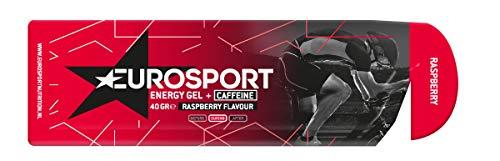 Eurosport Energy Gel cafeína frambuesa paquete con 20 barritas