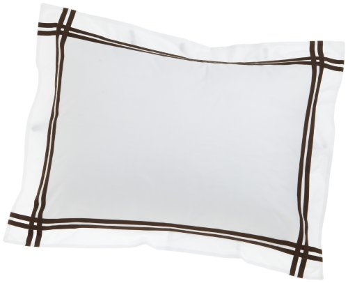 Peacock Alley Luxury Linens Bravado 400-Thread-Count 100-Percent Egyptian Cotton Percale King Pillow Sham, Chocolate