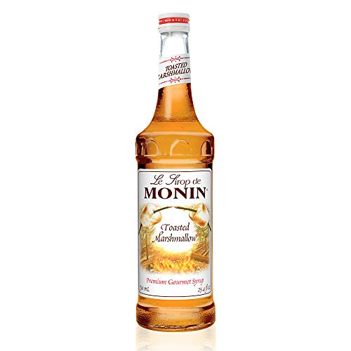 Monin - Toasted Marshmallow Syrup, Flavor of Campfire Treats, Natural Flavors, Great for Mochas, Shakes, Cocoas and Cocktails, , Non-GMO, Gluten-Free (750 ml)