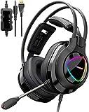 Tronsmart Alpha Casque Gaming avec Micro pour PS4 Xbox One PC, Casque de Jeu avec Control Audio...