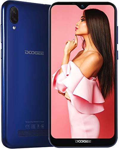 DOOGEE X90 3G Dual SIM Smartphone ohne Vertrag Günstig, Waterdrop 6,1 Zoll, Android 8.1 Oreo Handy Quad-Core 1GB + 16GB, 5MP Kamera für Selfies, 5MP+8MP Dual Rückkamera, 3400mAh GPS, Face Unlock, Blau