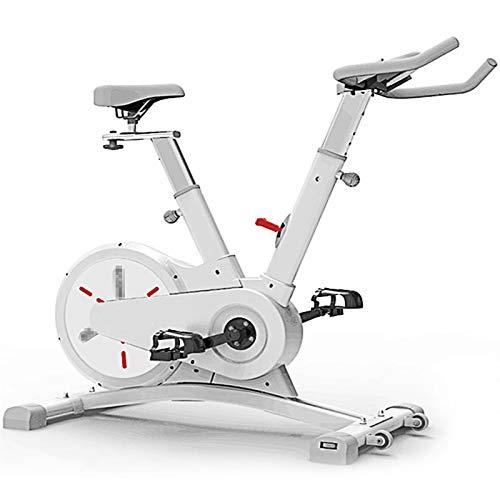TWW Inicio Aplicación De Bicicleta Giratoria con Control Magnético Bicicleta De Ejercicio Inteligente para Interiores Equipo Deportivo De Velocidad Variable De Varias Velocidades,Blanco