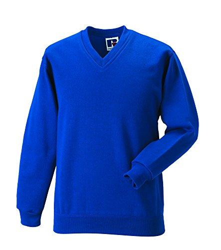 Jerzees Russell Workwear - Sweat-Shirt - - Uni - Col V - Manches Longues Homme Bleu French Navy XX-Large - Bleu - Bleu Marine - X-Small