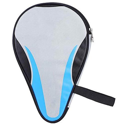 Alomejor Juego de Raquetas de Tenis de Mesa/Caja de Raquetas Juego de Raquetas de Ping-Pong en Forma de Calabaza Bolsillo de Almacenamiento de Gran Capacidad(Blue)