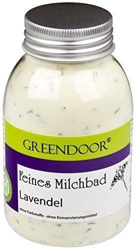 Greendoor Milchbad Lavendel 250ml aus der Naturkosmetik Manufaktur, Haut pflegendes Milch Bad, 100% natürlicher Badezusatz, biologisch abbaubar, Entspannungsbad, Wellness Bad, Geschenke