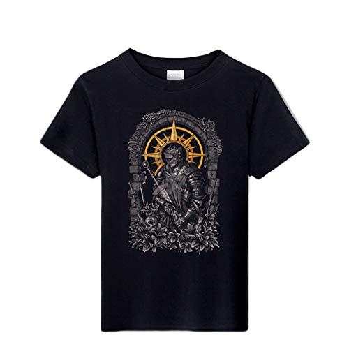 ACEGI - Dark Souls - Stolen - Praise The Sun Knight - Camiseta con diseño - Camiseta para Hombre - Cuello Redondo - Moderno - Camiseta de algodón - Verano