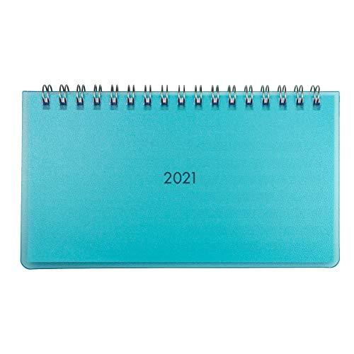 Idena 10986 - Tischkalender 2021, aus FSC-Mix, Mini hellblau, 1 Stück