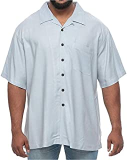 Island Outfitters Big and Tall Light Rayon Short Sleeve Shirt for Men