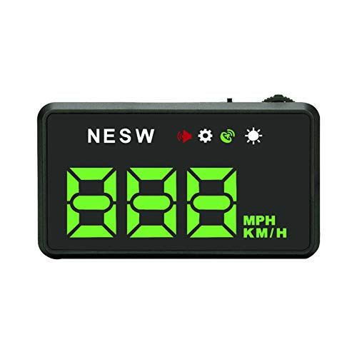KKmoon Head Up Display, Auto HUD Display OBD2 & HUD Display GPS 3,5 Zoll mit MPH, Geschwindigkeitsmesser Auto, Tachometer, Wassertemperaturmesser Motordrehzahl Sicherheitsalarme