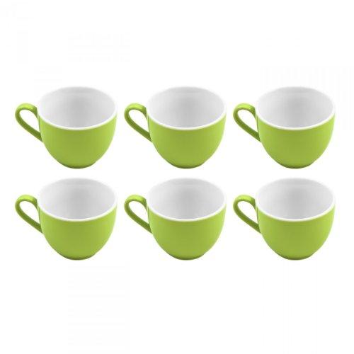 Flirt by R&B 516821 'Doppio' Espresso-Obere / Espressotasse 80 ml, Ø 6 x 5 cm, grün (6er Pack)