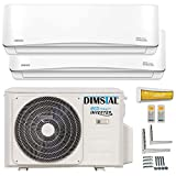 Dimstal A++/A+ DuoSplit Golden-Fin - Climatizador con aire acondicionado y calefacción, 9000a 12000BTU, con Wifi y WLAN, para casas inteligentes, Blanco, 230.00V