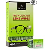 Best Eye Glass Cleaners - Pre-Moistened Lens Cleaning Wipes - 400 Cloths Review