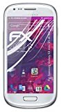 atFoliX Lámina Protectora de plástico Cristal Compatible con Samsung Galaxy S3 Mini GT-i8190 Película Vidrio, 9H Hybrid-Glass FX Protector Pantalla Vidrio Templado de plástico