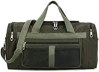 Multi-Functional Folding Nylon Men Travel Bag Large Capacity Waterproof Outdoor Bags Casual Duffle Bag Anti-Scratch Handbag 128K (Color : Army Green, Size : -)