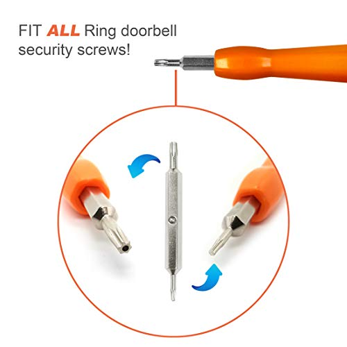 Ring Doorbell Replacement Security Screws and Screwdriver Kit