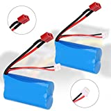 Crazepony-UK 2PCS Battery 7.4V 1500mAh Bateria 15C Universal for WLtoys 4WD RC Cars 12403 12401 12402 12404 12428 Spare Part Replacement