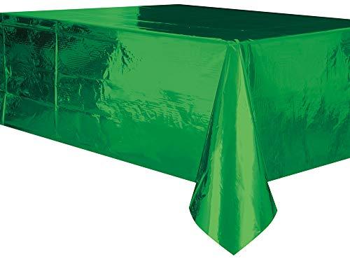Uniek feest. Plastic tafelkleed. 9 x 4.5 ft groen