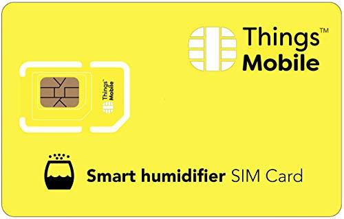Tarjeta SIM IOT/M2M para HUMIDIFICADOR INTELIGENTE / SMART UMIDIFIER - Things Mobile - con cobertura global y red multioperador GSM/2G/3G/4G LTE, sin costes fijos. 10 € de crédito incluido
