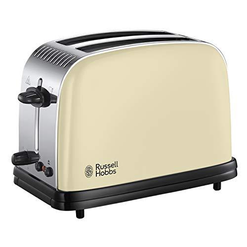 Russell Hobbs 23334 Stainless Steel 2 Slice Toaster, Cream
