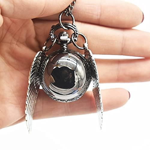 YLLAND Llavero Reloj Oro Colgante Llavero Retro Estilo ángel ala Encanto Llavero Hombres y Mujeres LNNDE (Color : F)