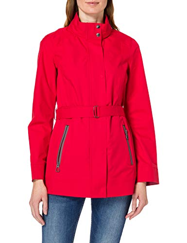 Geox Womens W GENDRY Coat A-2,5 Layers P Jacket, RED SIGNAL, 38