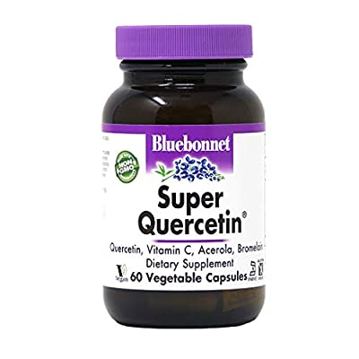 Bluebonnet Nutrition Super Quercetin Vegetable Capsules, Vitamin C Formula, Best for Seasonal & Immune Support, Non GMO, Gluten Free, Soy Free, Milk Free, Kosher, 60 Vegetable Capsules