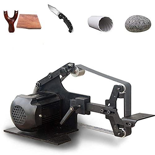 Huanyu Mini Bandschleifer Micro Desktop Grinder 800 Watt Elektrische DIY Brushless Sand Mühle 0-5000 RPM Holz Poliermaschine Fixed Angle Sharpener Mit 6 Schleifband