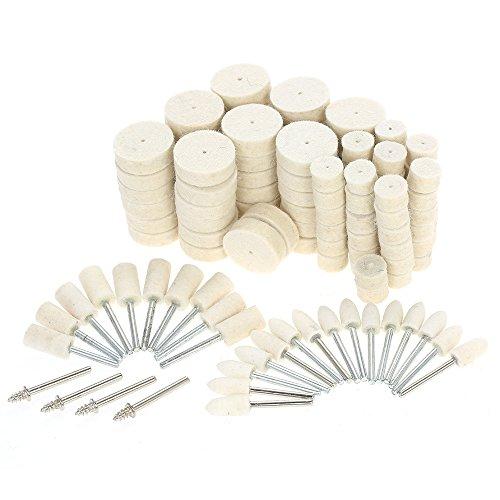 9pcs slijpschijf polijstgereedschap, wolvilt metalen oppervlak polijsten accessoires, voor Dremel Rotary Tool DIY gepolijst gravure
