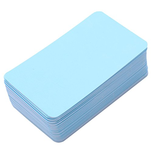 Vaorwne Message Cards Blank Paper Cards for DIY Words Business Small Notepads 100 pcs