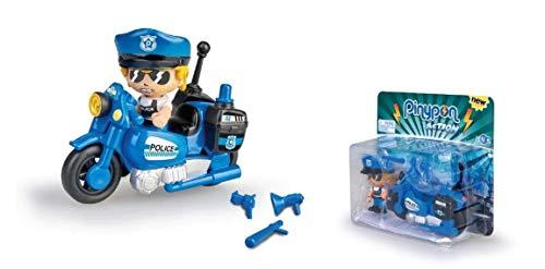 Pinypon Action- Figura, Moto policía, Accesorios, a Partir de 4 a 8 años (Famosa 700015694)