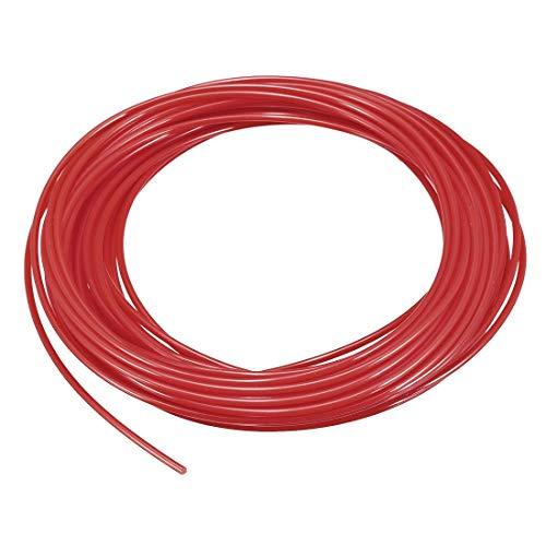 N/A Recharge de Filament pour Stylo d'imprimante 3D, Longueur 32,8 Pieds, diamètre 1,75 mm, PLA, précision dimensionnelle / - 0,02 mm, pour Peinture et Dessin 3D, Rouge Transparent