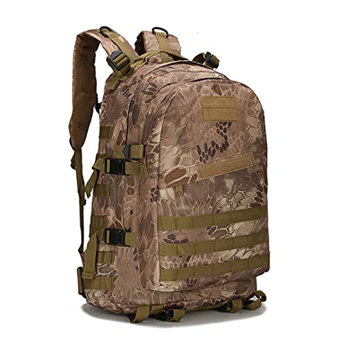 RatenKont Al Aire Libre táctico 45L Gran Capacidad Molle ejército Militar Asalto Bolsas Camuflaje Trekking Caza Camping Senderismo Bolsa mwnise 30-40L