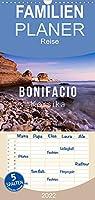 Bonifacio. Korsika - Familienplaner hoch (Wandkalender 2022 , 21 cm x 45 cm, hoch): Malerisches Bonifacio auf Korsika - 4 Jahreszeiten (Monatskalender, 14 Seiten )