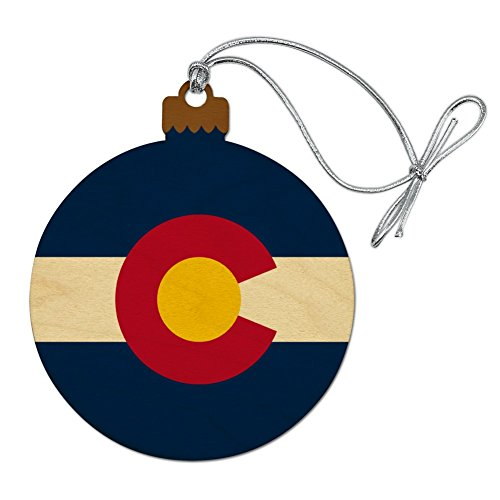 GRAPHICS & MORE Colorado State Flag Wood Christmas Tree Holiday Ornament
