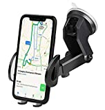 iAmotus Support Téléphone Voiture Rotation à 360° Ventouse Auto Pare-Brise et Tableau de Bord Réglable...